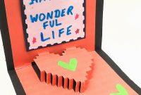 Pixel Heart Popup Card  Diy Tutorialpaper Folds    Youtube within Pixel Heart Pop Up Card Template