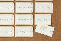 Place Card Setting Template Luxury Wedding Name Of Table Number inside Place Card Setting Template