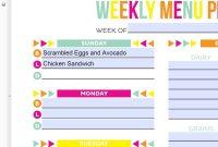Plan Templates Meal Frightening Planning WordPress Template For regarding Camping Menu Planner Template