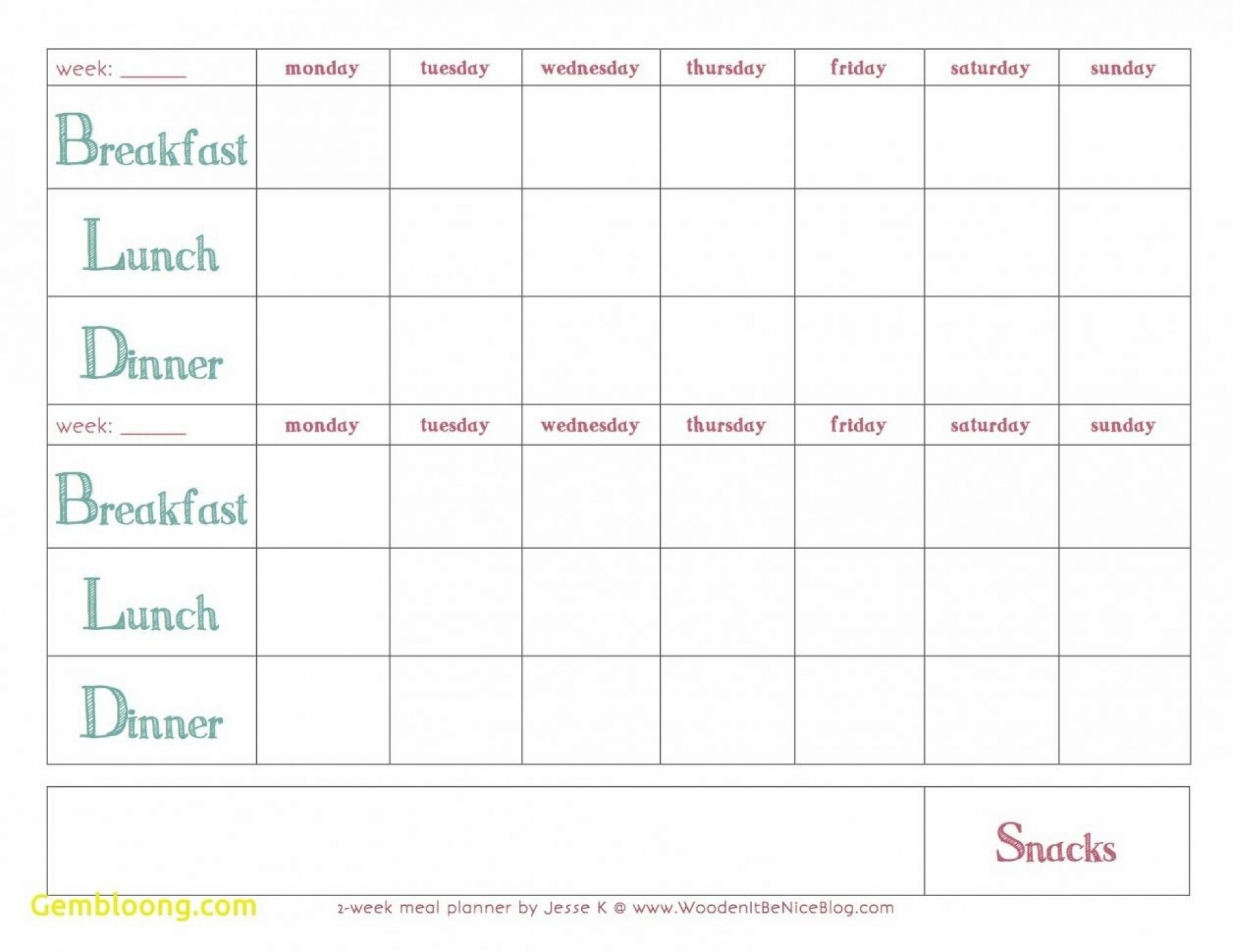 Plan Templates Monthly Meal Planning Template Within Breakfast Lunch Dinner Menu Template
