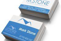 Plastering Business Cards Templates  Mandegar for Plastering Business Cards Templates