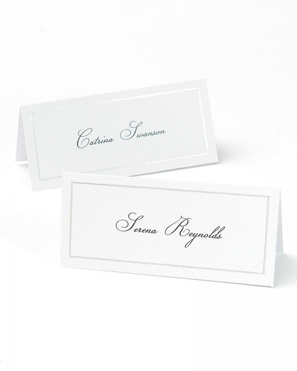 Platinum Foil Border Printable Place Cards Throughout Gartner Studios Place Cards Template