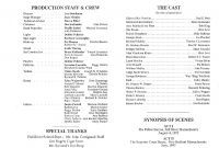 Playbill Template Theatre Blank Word Free Download inside Playbill Template Word