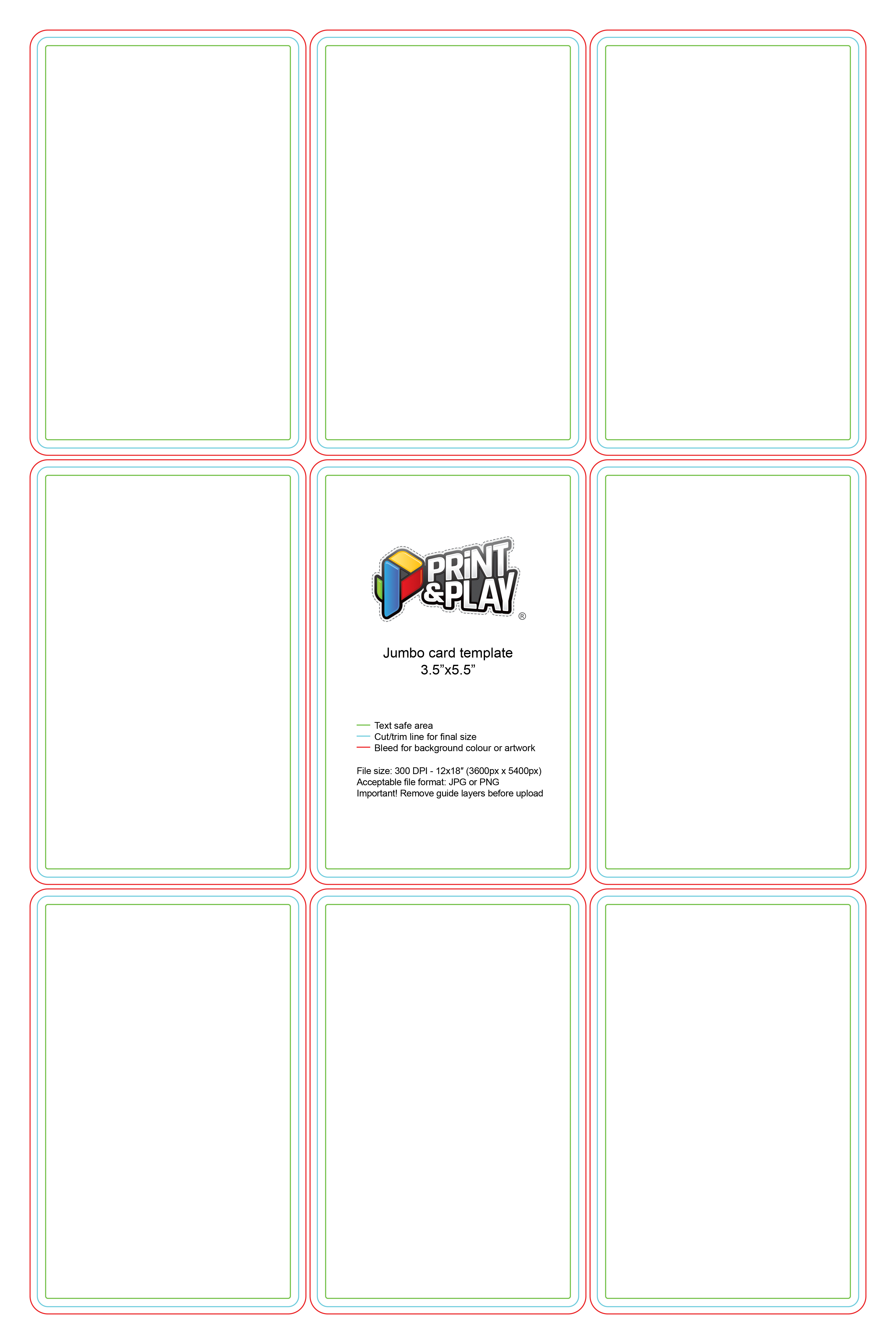 Playing Cards  Formatting  Templates  Print  Play Intended For Mtg Card Printing Template