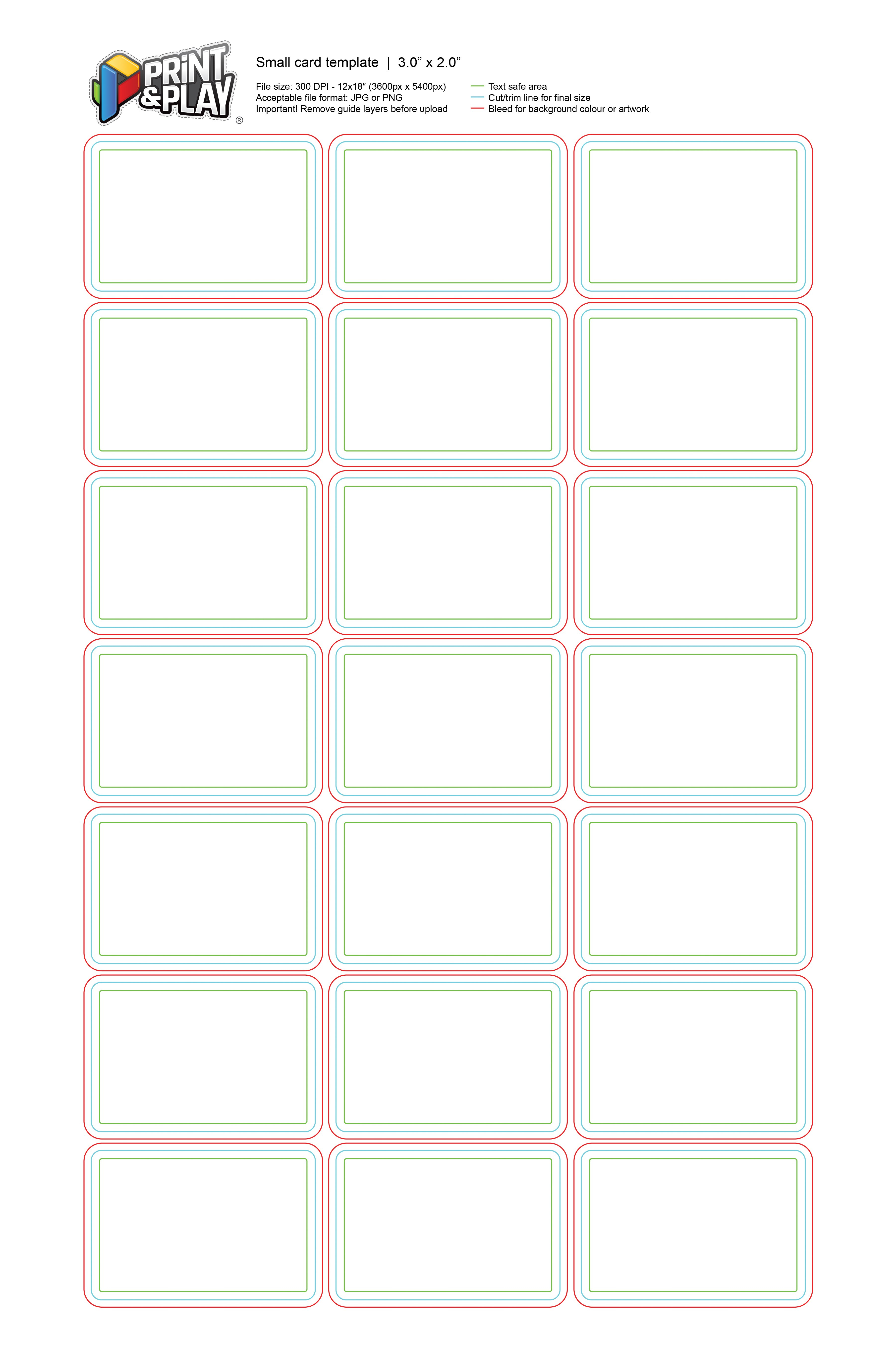 Playing Cards  Formatting  Templates  Print  Play With Regard To Template For Playing Cards Printable