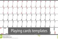 Playing Cards Template Set Stock Vector Illustration Of Luck inside Deck Of Cards Template