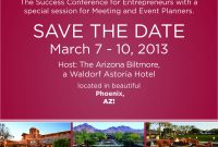 Please Save The Date March     For The Success Conference for Save The Date Business Event Templates