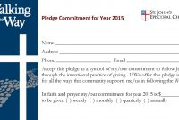 Pledge Cards Template Pledge Sheet Template Pledge Cards Church throughout Building Fund Pledge Card Template