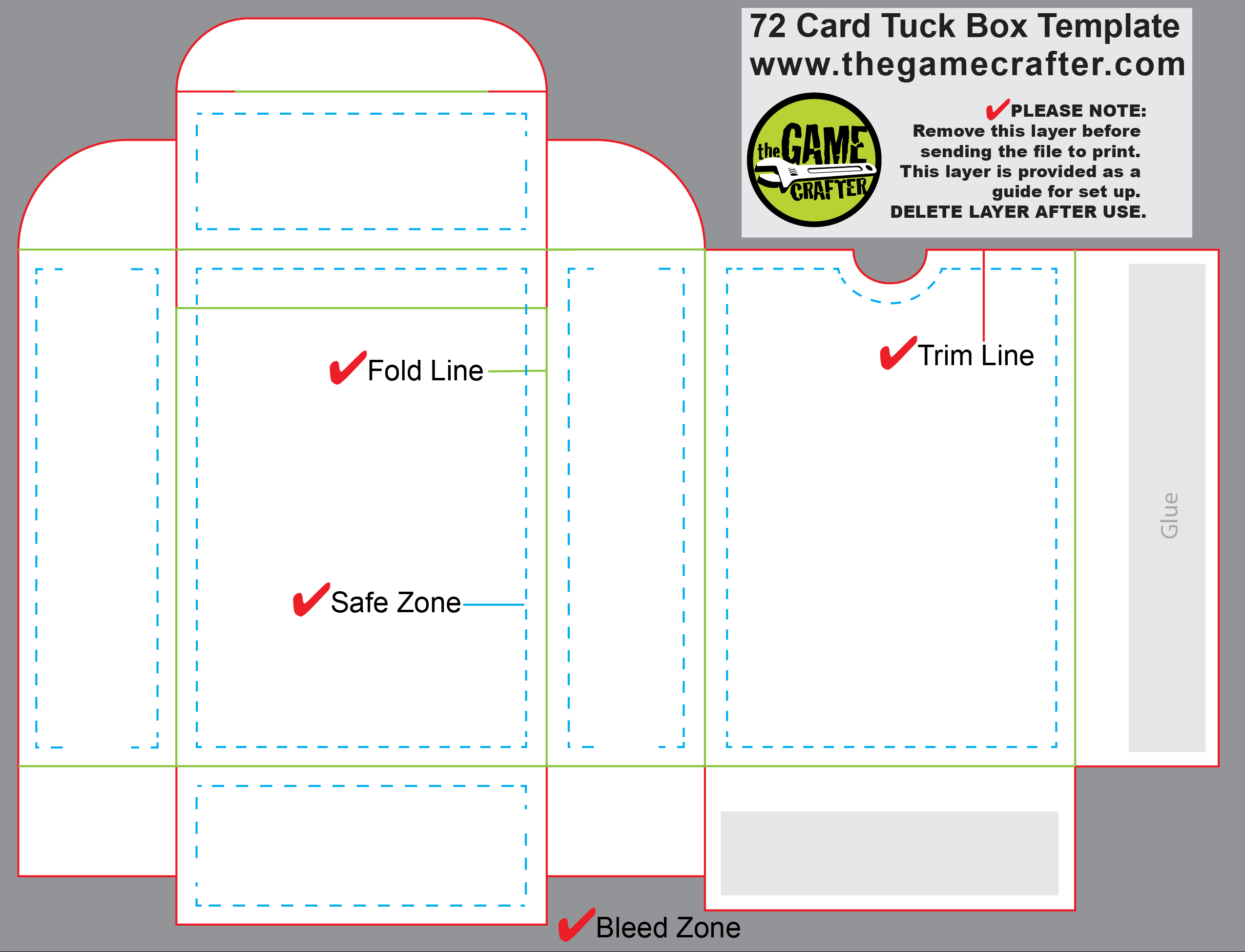 Poker Tuck Box  Cards Inside Deck Of Cards Template
