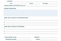 Police Report Template  Examples Fake  Real ᐅ Template Lab with regard to Police Incident Report Template