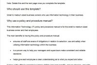 Policy And Procedure Templates – Word  Pdf Download  Creative for Policies And Procedures Template For Small Business