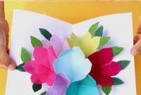 Pop Up Flowers Diy Printable Mother's Day Card  A Piece Of Rainbow regarding Free Printable Pop Up Card Templates