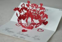 Pop Up Valentine Cards Template Kissing Couple Pop Up Card Template throughout Heart Pop Up Card Template Free