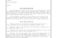 Postnuptial Agreement Contract Forms  Pdf inside Post Nuptial Agreement Template
