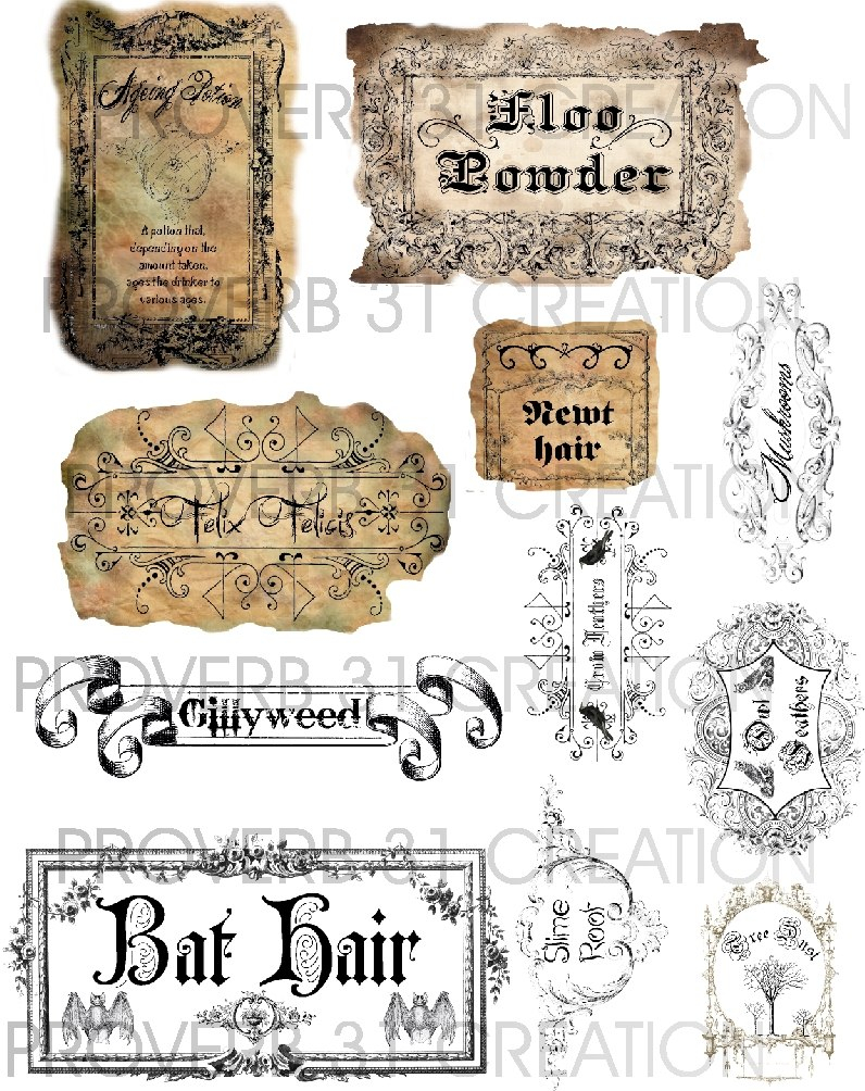 Potion Labels – Water Walker Events – Design – Planning With Regard To Harry Potter Potion Labels Templates