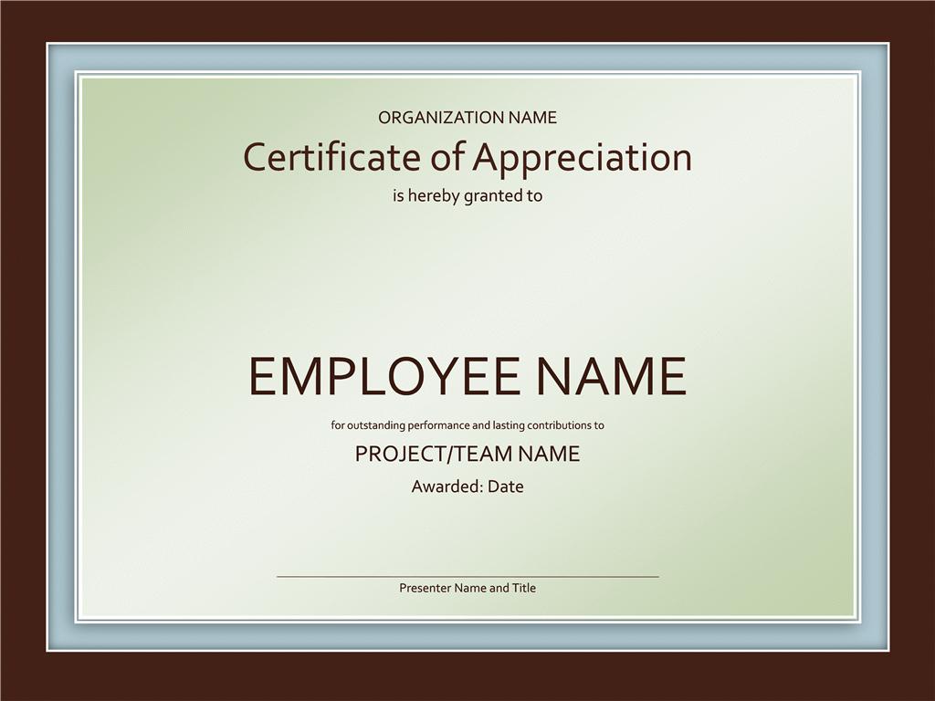 Powerpoint Award Certificate Template  Mandegar Regarding Powerpoint Award Certificate Template
