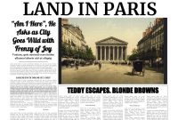 Powerpoint Newspaper Template within Newspaper Template For Powerpoint