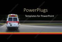 Powerpoint Template Ambulance Going To Hospital For Emergency At regarding Ambulance Powerpoint Template