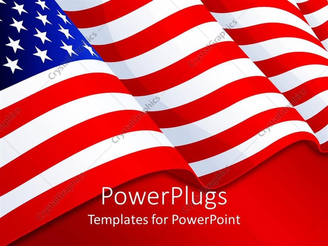 Powerpoint Template American Flag Patriotic Background With Stars With Regard To American Flag Powerpoint Template
