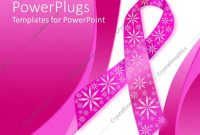 Powerpoint Template Pink Breast Cancer Ribbon With Sparkly Flowers throughout Breast Cancer Powerpoint Template
