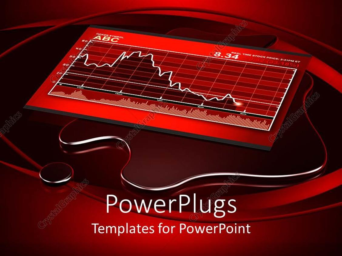 Powerpoint Template Red And White Themed Financial Chart Showing Regarding Depression Powerpoint Template