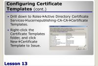Ppt  Configuring Active Directory Certificate Services Powerpoint inside Active Directory Certificate Templates
