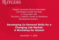 Ppt  Developing Indemand Skills For A Changing Job Market A intended for Rutgers Powerpoint Template