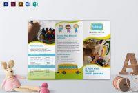 Pre School Brochure Design Template In Psd Word Publisher in Play School Brochure Templates