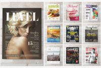 Premium Magazine Templates For Professionals  Inspirationfeed regarding Blank Magazine Template Psd