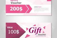 Premium Pink Gift Voucher Template Layout Design Set Certificate inside Pink Gift Certificate Template