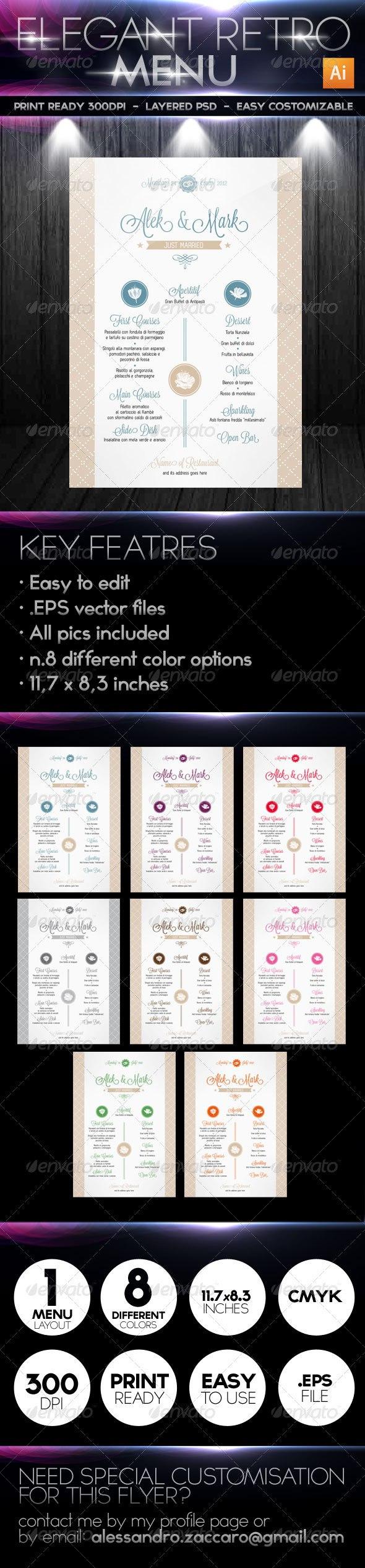 Premium Restaurant Menu Templates  Dzineflip In Adobe Illustrator Menu Template
