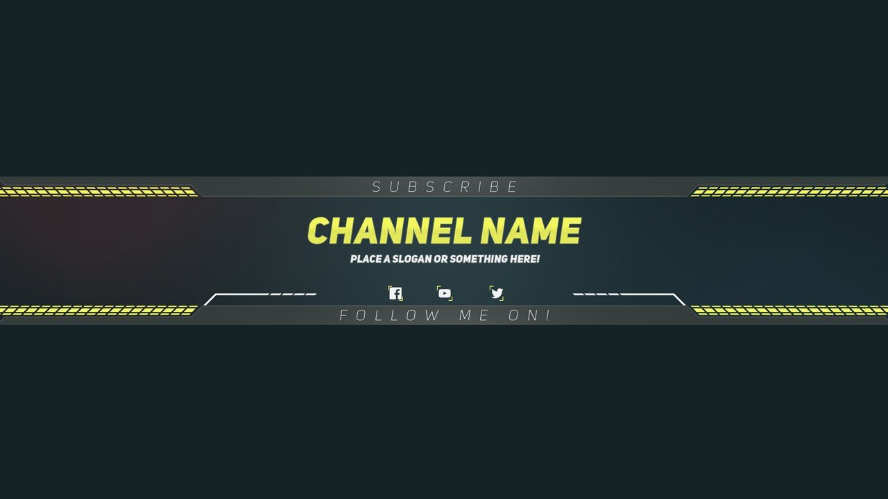 Premium Youtube Banner Template  Photoshop Template  Official Motions Throughout Banner Template For Photoshop
