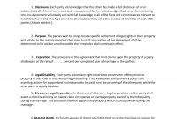Prenuptial Agreement Samples  Forms ᐅ Template Lab for Common Law Separation Agreement Template