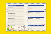 Prenursery Report Card On Behance  Report Card Ideas  School in High School Student Report Card Template