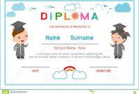 Preschool Diploma Template Free  Sansurabionetassociats inside Preschool Graduation Certificate Template Free