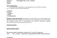 Preschool Evaluation Report Template regarding Intervention Report Template