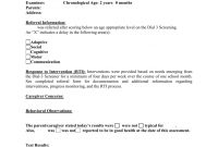 Preschool Evaluation Report Template throughout Deviation Report Template