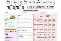 Preschoolprintableweeklyprogressreportsjohnblog  Classroom inside Preschool Weekly Report Template