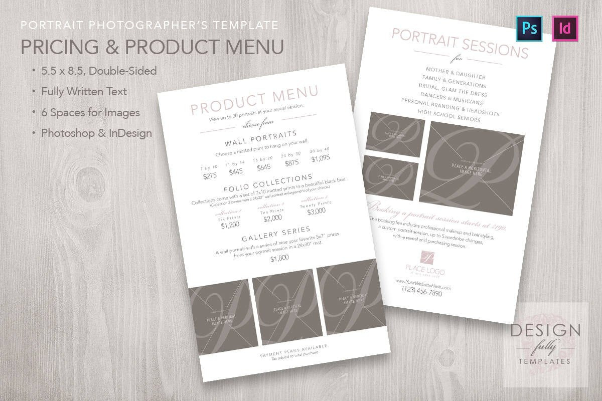 Price And Product Menu  Template For Id  Psd Cs  Cc In Product Menu Template