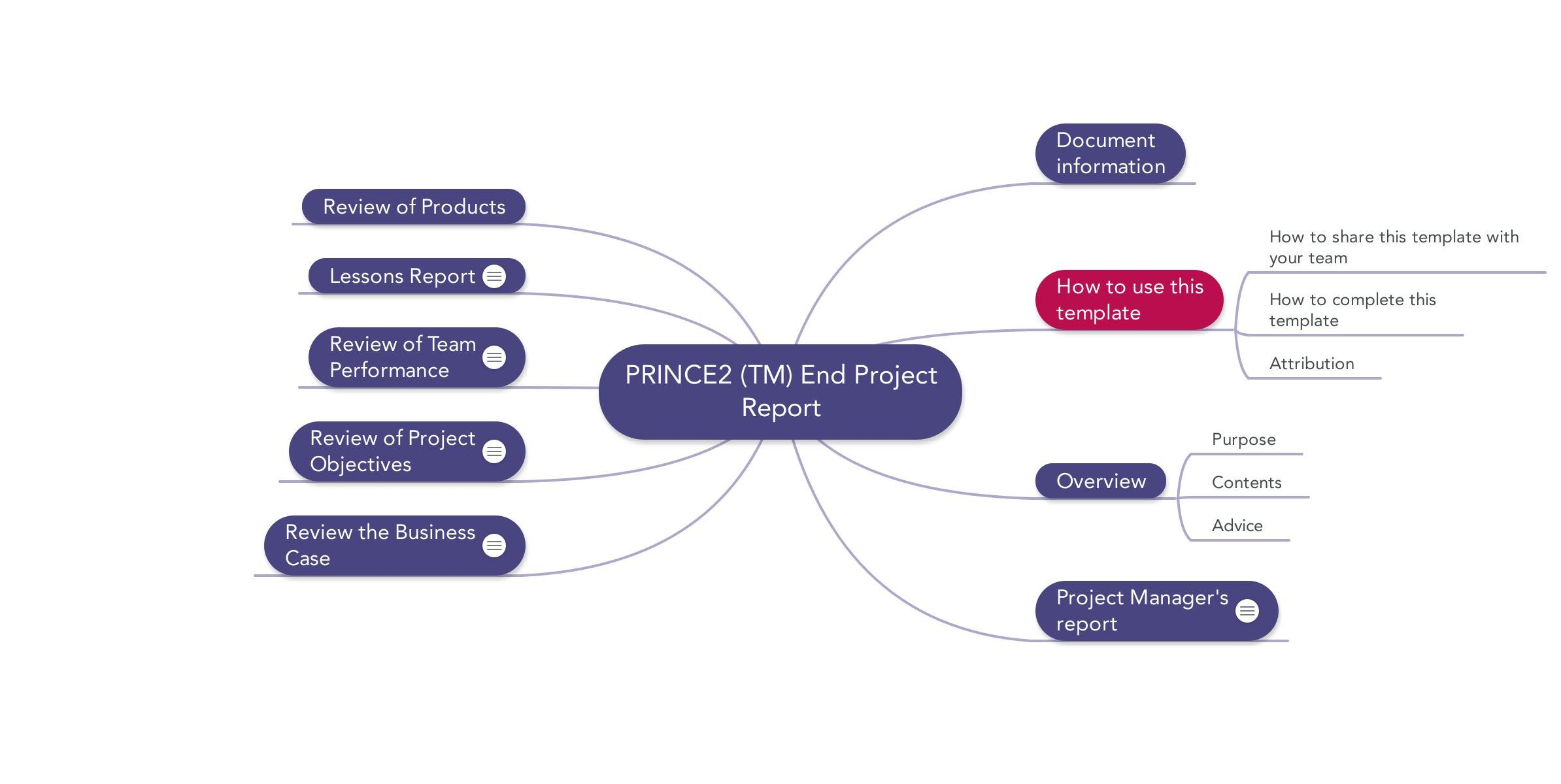Prince End Project Report  Download Template For Ms Word Templates For Project Report