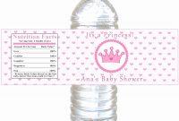 Princess Water Bottle Labels Free – Bottle Feeding Tips throughout Free Custom Water Bottle Labels Template