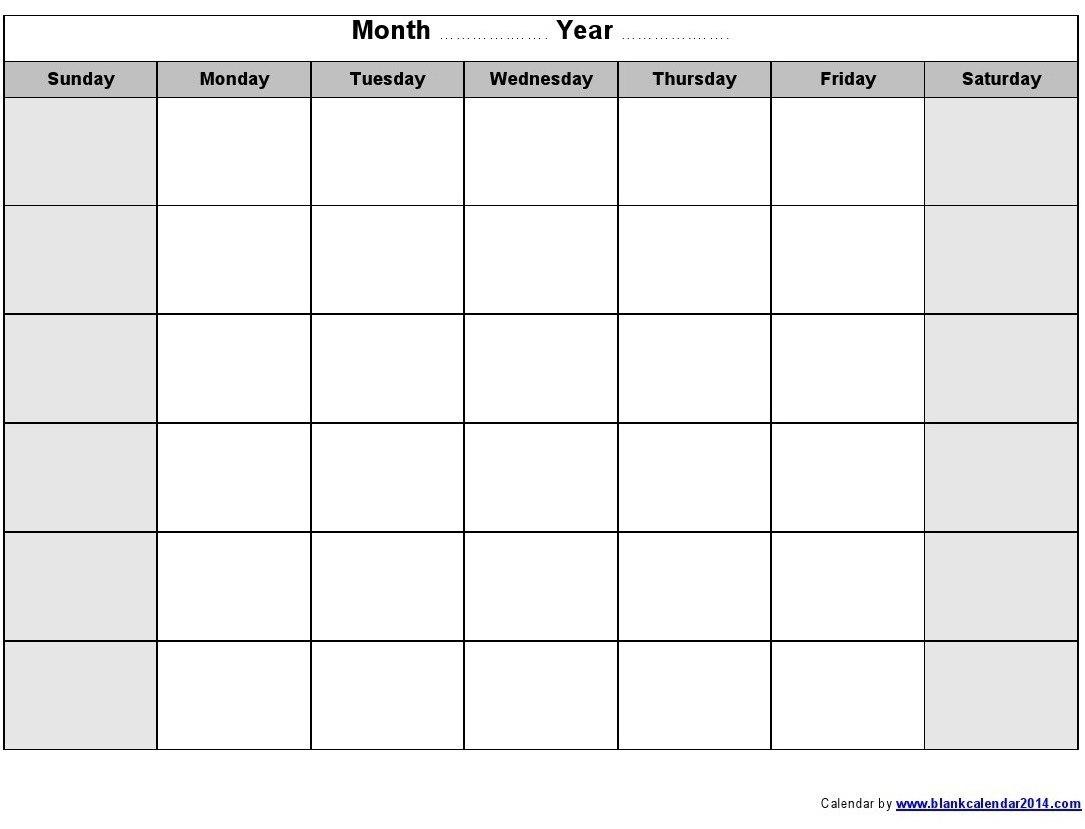 Print Blank Calendar Template Weekly Calendar Template Pictures At Throughout Blank Activity Calendar Template