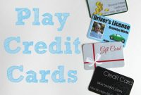 Printable And Customizable Play Credit Cards  Share Your Craft within Credit Card Template For Kids