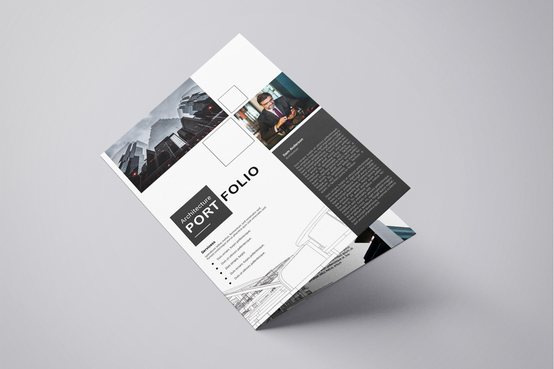Printable Architectural Portfolio Brochure Template  Etsy In Architecture Brochure Templates Free Download