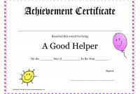 Printable Award Certificates For Teachers  Good Helper Printable in Classroom Certificates Templates