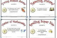 Printable Awards pertaining to Classroom Certificates Templates