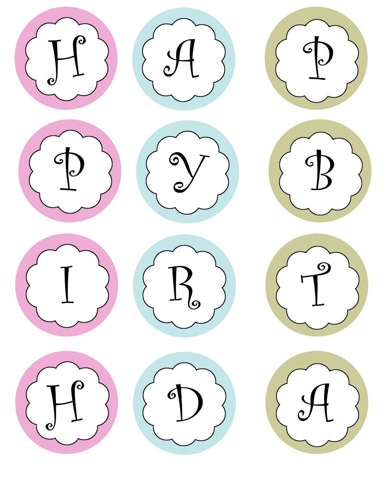 Printable Banners Templates Free  Print Your Own Birthday Banner With Regard To Letter Templates For Banners
