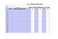 Printable Baseball Lineup Templates Free Download ᐅ Template Lab inside Dugout Lineup Card Template