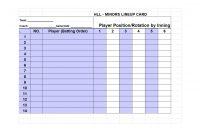 Printable Baseball Lineup Templates Free Download ᐅ Template Lab with regard to Free Baseball Lineup Card Template