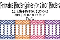 Printable Binder Spine Pack Size  Inch Different Colors In with regard to Folder Spine Labels Template